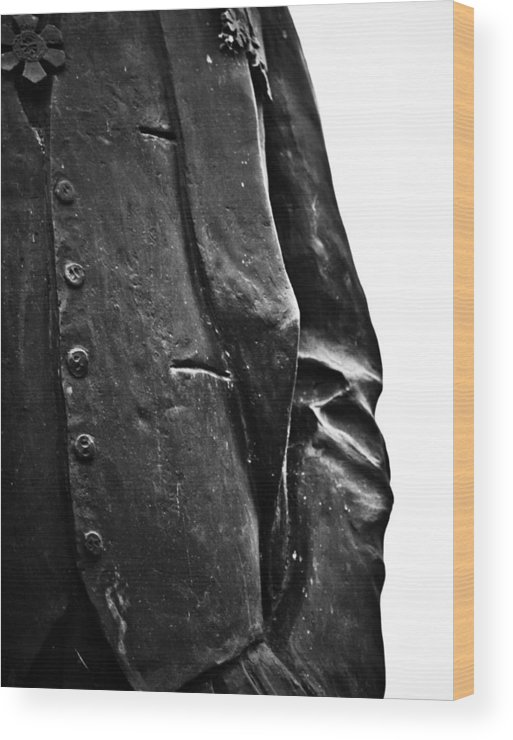 Black And White World Photographer Wood Print featuring the photograph Stiff Colar by The Artist Project