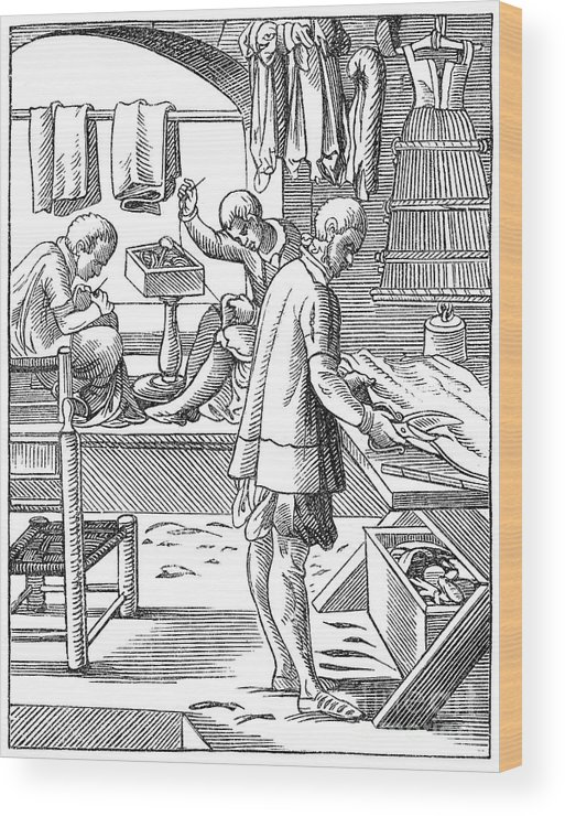 16th Century Wood Print featuring the photograph Tailors, 16th Century by Granger