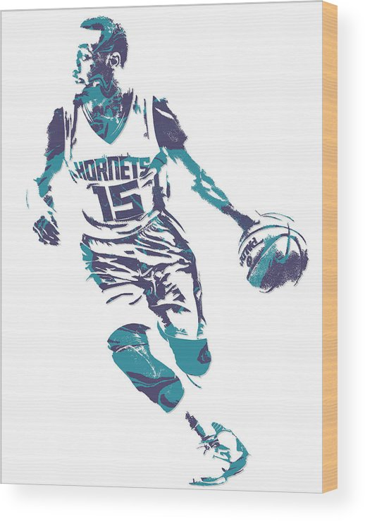 official photos 54496 cb744 Kemba Walker Charlotte Hornets Pixel Art 5 Wood Print