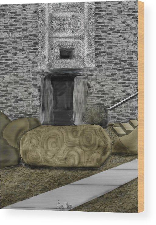Newgrange Wood Print featuring the painting Newgrange Ireland by Anne Norskog