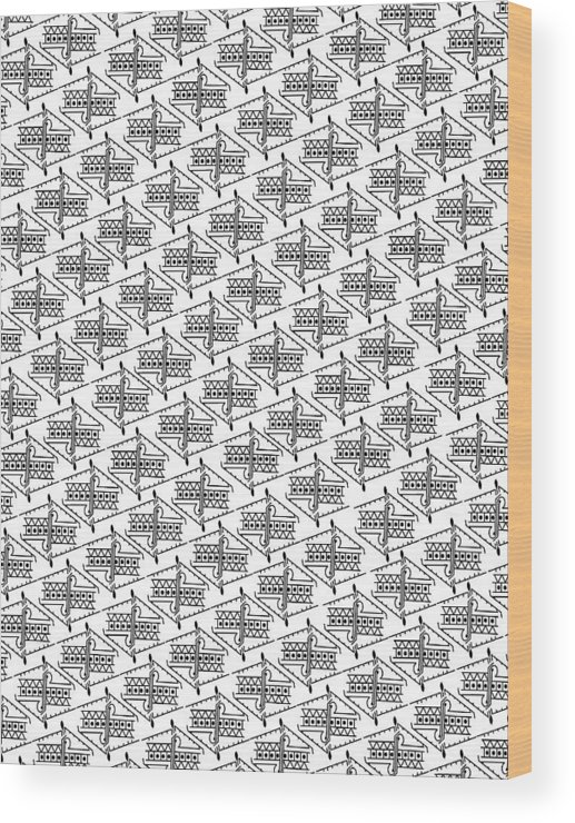 Anonymous Me Printable On Even Fabric Wood Print featuring the digital art Anonymous Me Printable by Kasule Joseph