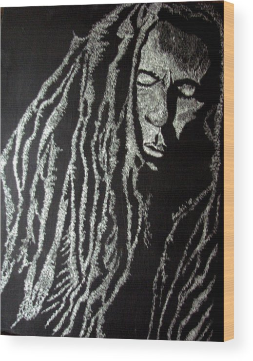 Portrait Wood Print featuring the painting Art Of Freedom by Glory Fraulein Wolfe