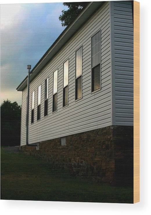 Church Wood Print featuring the photograph Blackburn Church Sunset by Curtis J Neeley Jr