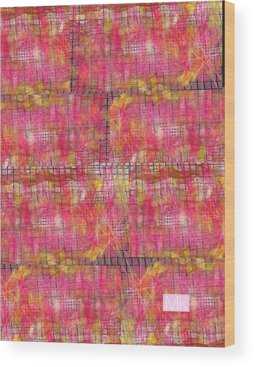 Textile Wood Print featuring the digital art Blanket by Mary Jo Hopton