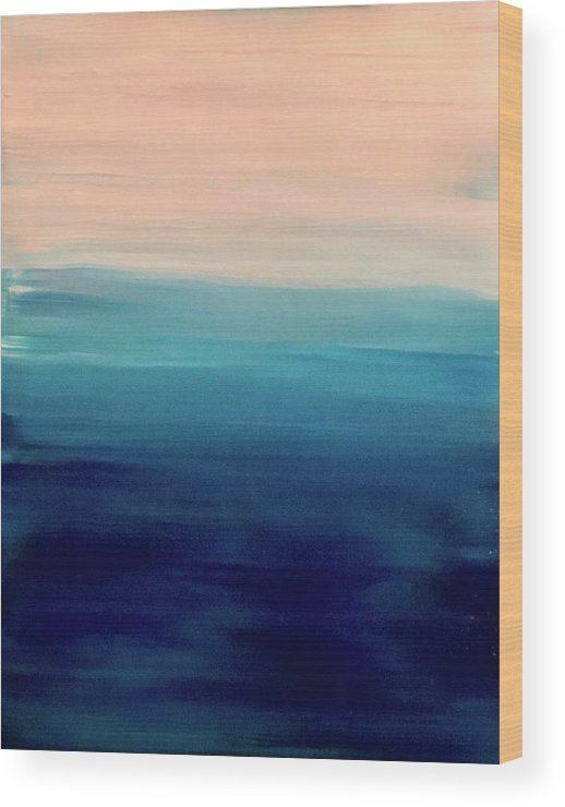 Blue Wood Print featuring the painting Blue Fade by Marcus Mabry