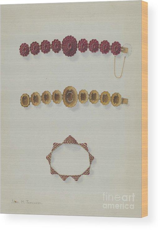 Wood Print featuring the drawing Bracelet by John H. Tercuzzi