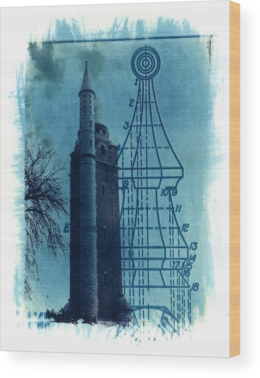 Alternative Process Photography Wood Print featuring the photograph Compton Blueprint by Jane Linders