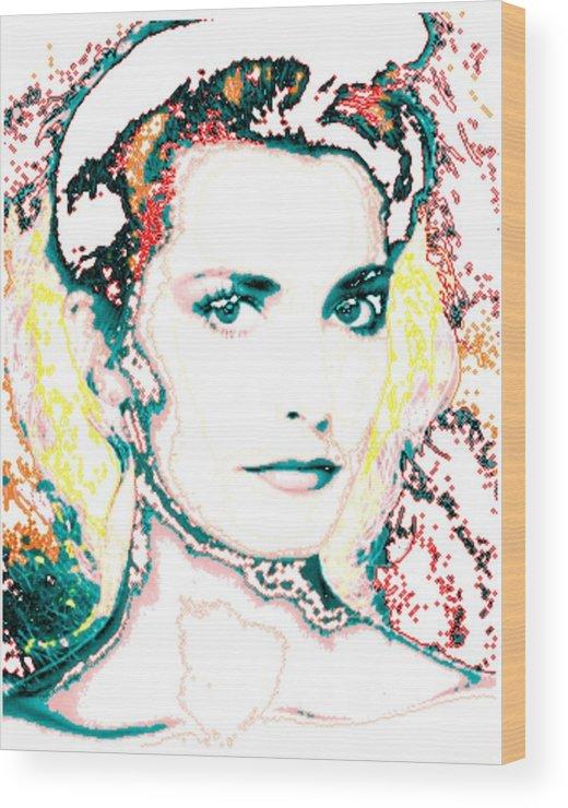 Digital Wood Print featuring the digital art Digital Self Portrait by Kathleen Sepulveda