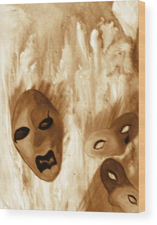 Abstract Wood Print featuring the print Don't Follow The Leader by Beverly Baxter