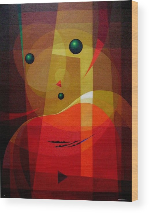 #abstract Wood Print featuring the painting Doors Of Perception by Alberto DAssumpcao