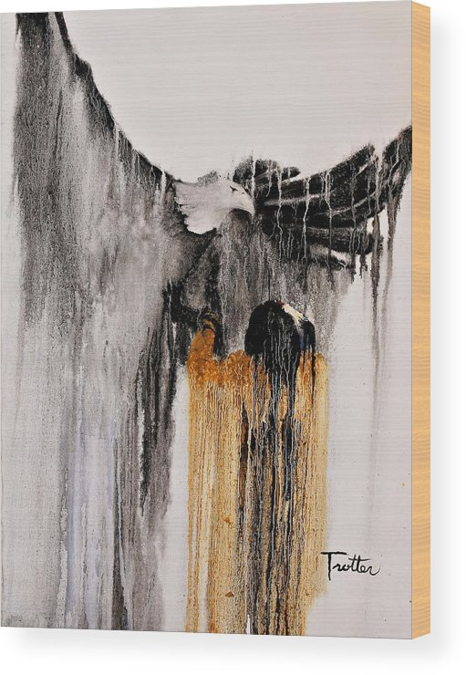 Natives Wood Print featuring the painting Eagle Spirit by Patrick Trotter