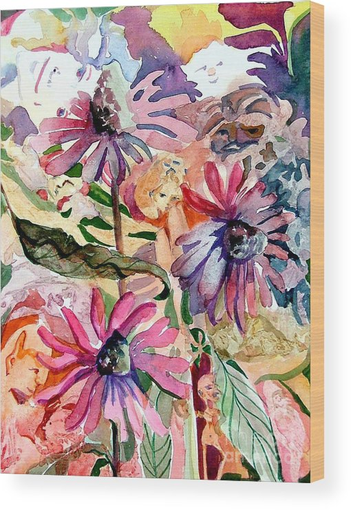 Daisy Wood Print featuring the painting Fairy Land by Mindy Newman