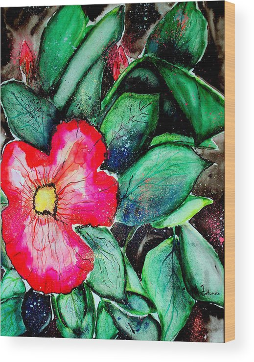 Exotic Wood Print featuring the photograph Florida Flower by Margaret Fortunato
