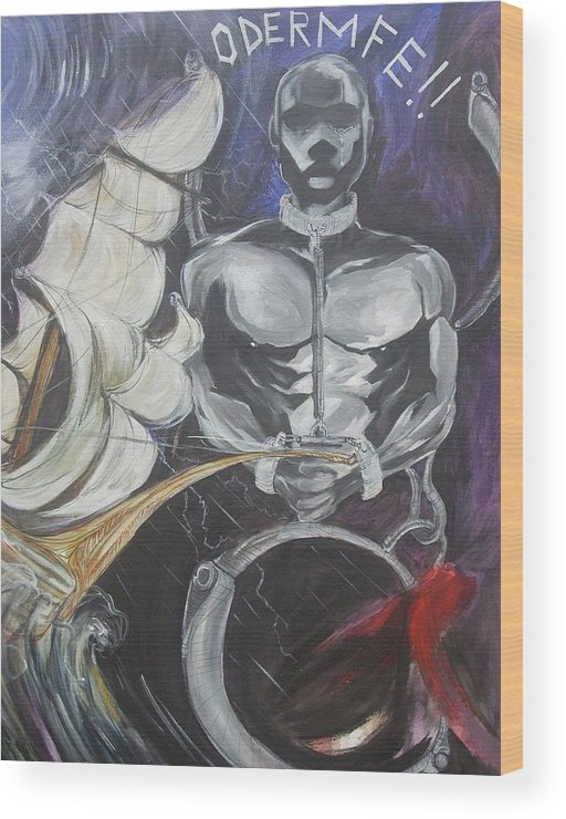 Freedom Wood Print featuring the painting Freedom by Hasaan Kirkland