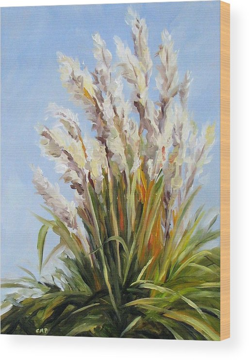 Daily Painting Wood Print featuring the painting Grand Pampas by Cheryl Pass