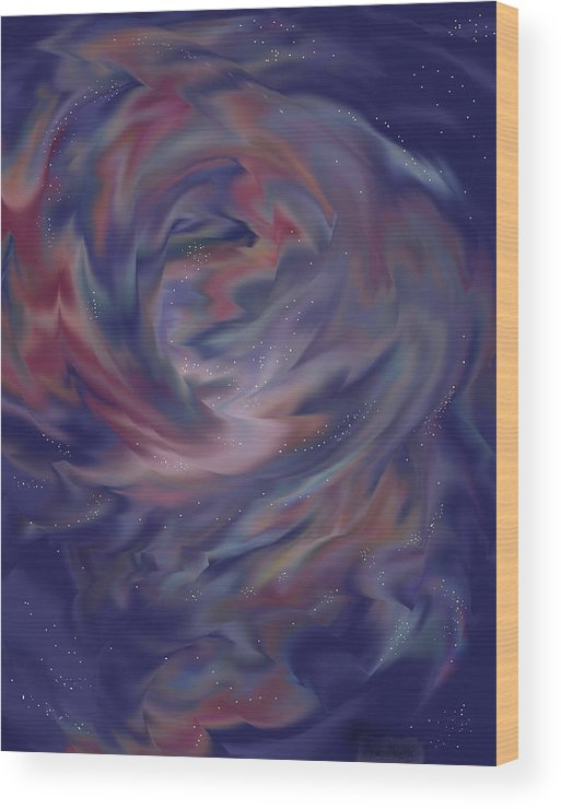 Starscape Wood Print featuring the painting Hubble One by Anne Norskog