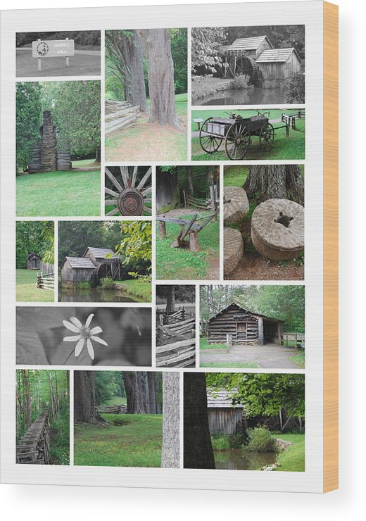 Water Wood Print featuring the photograph Mabry Mill by Eric Liller