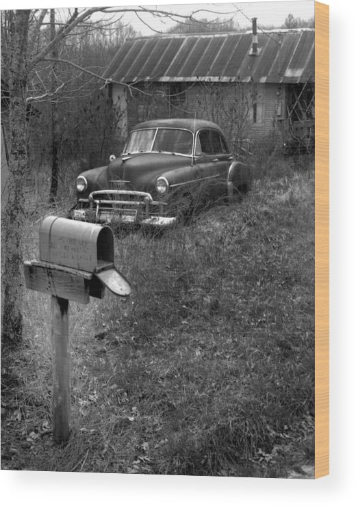 Ansel Adams Wood Print featuring the photograph Mailboxcar by Curtis J Neeley Jr