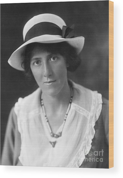 20th Century Wood Print featuring the photograph Marie Stopes (1880-1958) by Granger