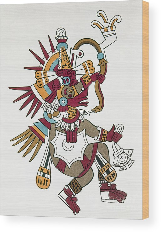 1500 Wood Print featuring the photograph Mexico: Quetzalcoatl by Granger