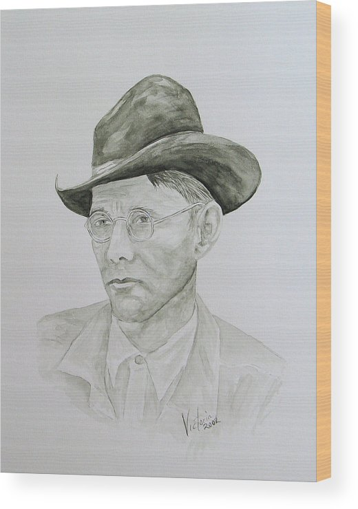 Old Man Wood Print featuring the painting Old Man by Torrie Smiley