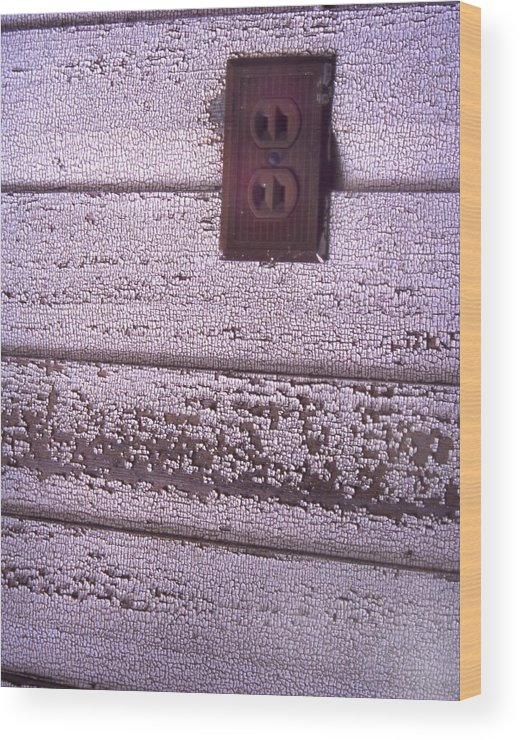 Cn_fo Wood Print featuring the photograph Old Wall Outlet by Curtis J Neeley Jr