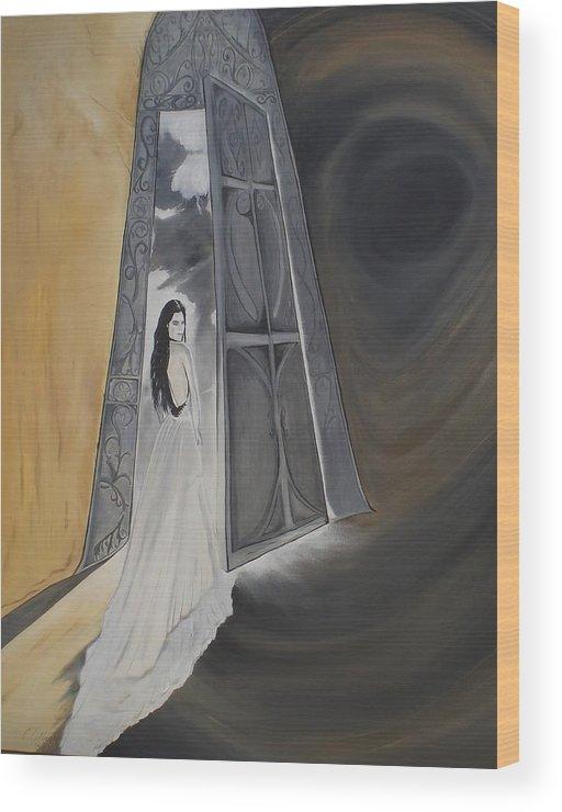 Open Door Wood Print featuring the painting Open Door by Colin O neill