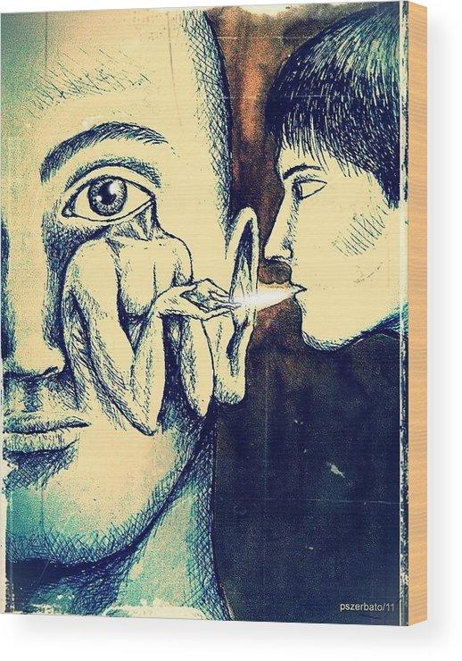 Knowledge Wood Print featuring the digital art Oral Teachings by Paulo Zerbato
