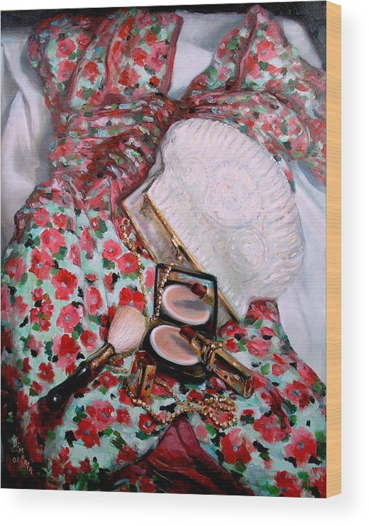 Realism Wood Print featuring the painting Party Dress by Donelli DiMaria