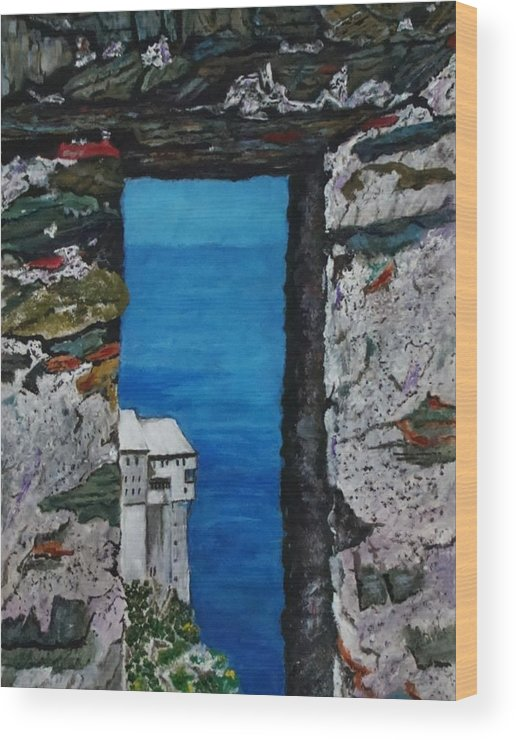 Landscape Wood Print featuring the painting Perspective by Yvonne Breen