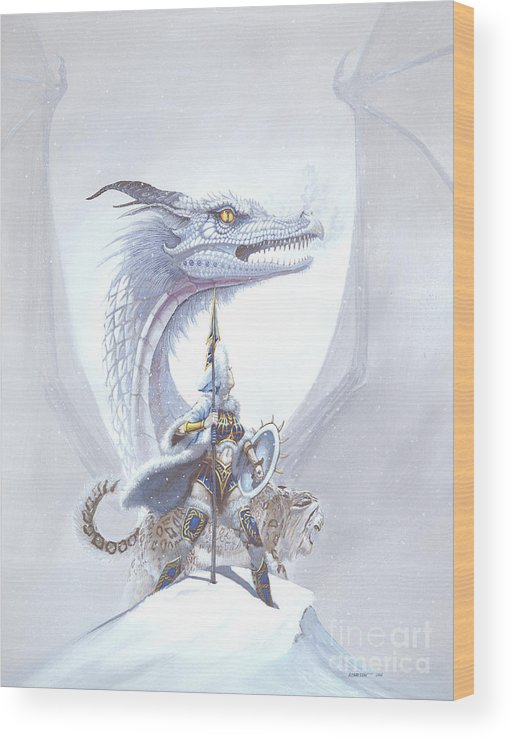 Dragon Wood Print featuring the painting Polar Princess by Stanley Morrison