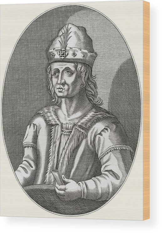 Welsh Wood Print featuring the drawing Robert II Of Scotland, 1316 by Vintage Design Pics