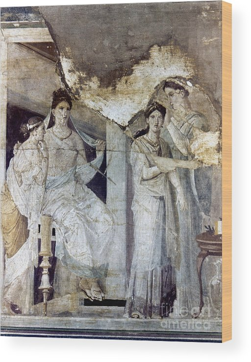 Ancient Wood Print featuring the photograph Roman Toilette Scene by Granger