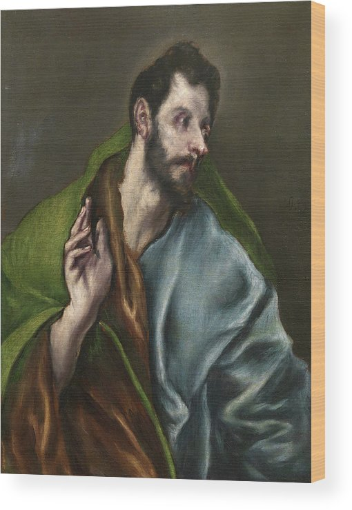 Apostle Wood Print featuring the painting Saint Thomas by El Greco