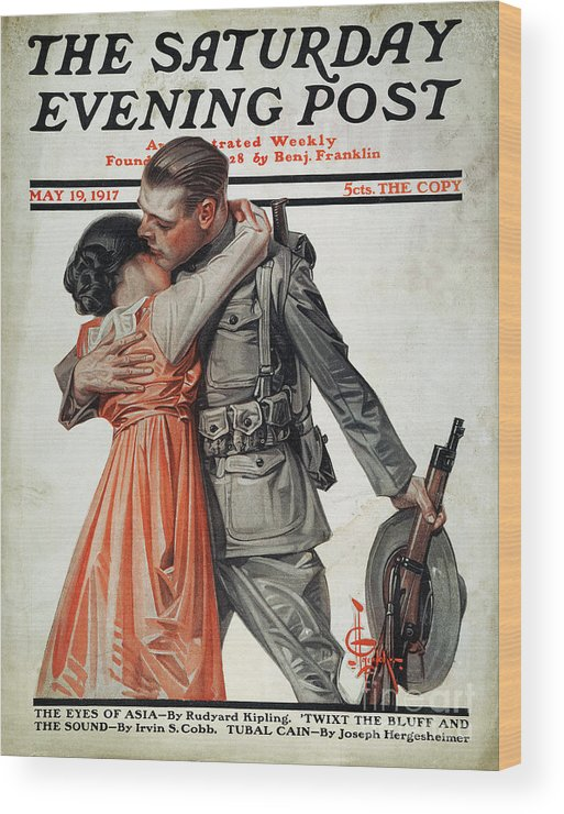 1917 Wood Print featuring the photograph Saturday Evening Post by Granger