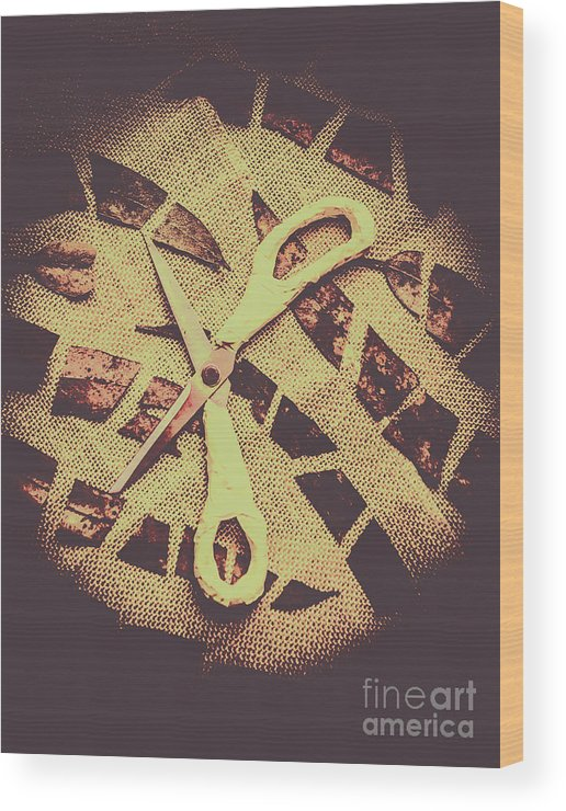 Scissors Wood Print featuring the photograph Slices Of Autumn by Jorgo Photography - Wall Art Gallery