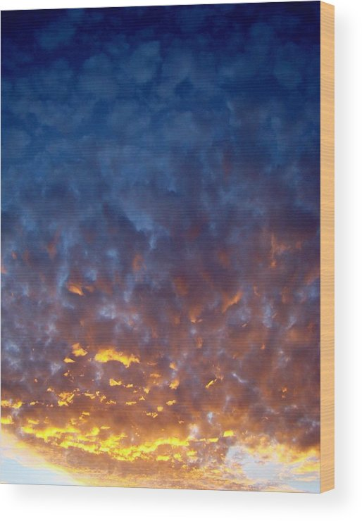 Clouds Wood Print featuring the photograph Supernatural Cloud Two by Ana Villaronga