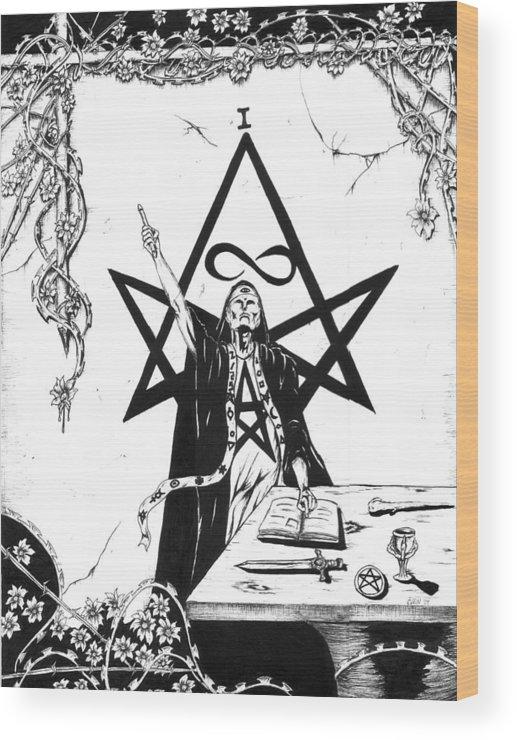 Tarot The Magician Wood Print