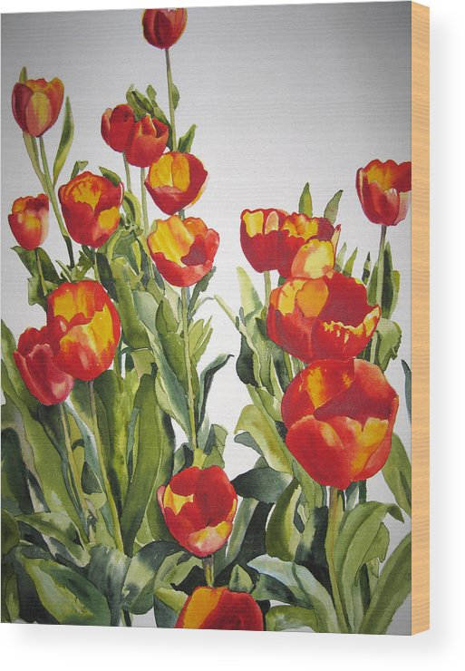Botanical Wood Print featuring the painting Terry by Shirley Braithwaite Hunt