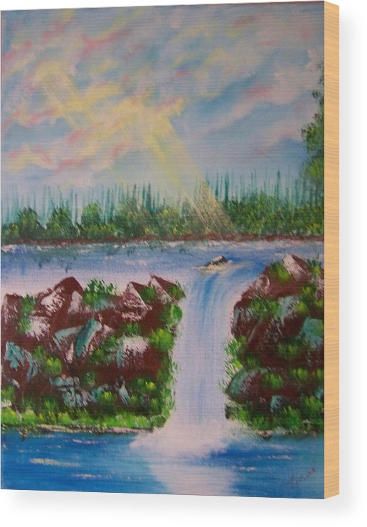 Acrylic Wood Print featuring the painting The Glory Of The Lord by Laurie Kidd