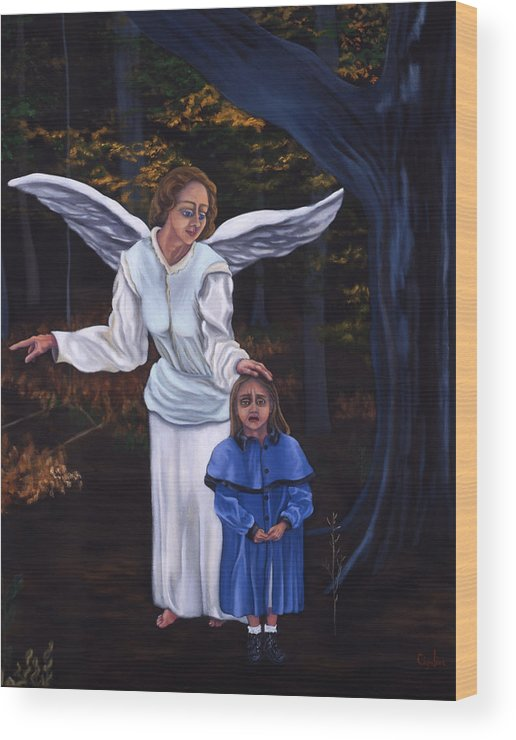Child Wood Print featuring the painting The Lost Child by Gloria Cigolini-DePietro