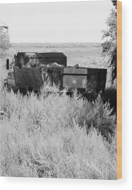 Farm Wood Print featuring the photograph Trash Truck by Margaret Fortunato