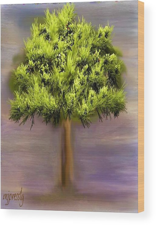 Tree Wood Print featuring the digital art Tree by June Pressly