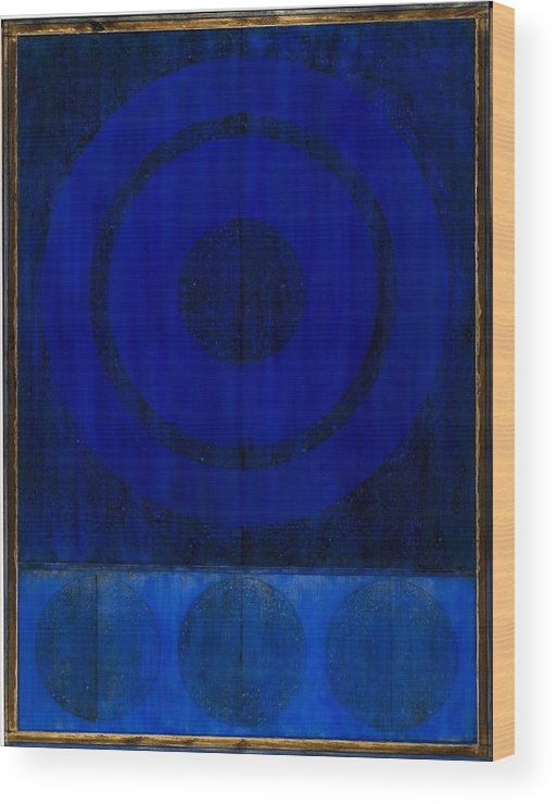 Abstract Wood Print featuring the painting Untitled 1308 by Marco Logsdon