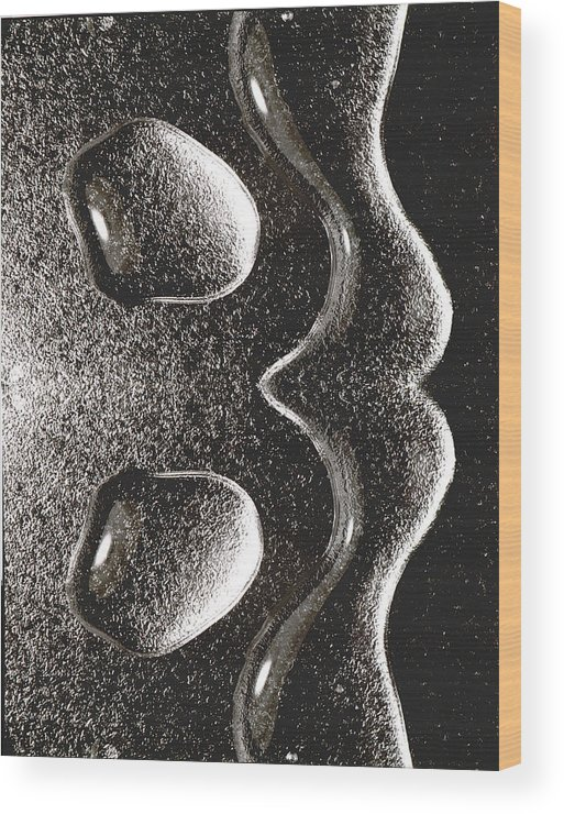 Water Wood Print featuring the photograph Waterdrop 1 by Nancy Mueller