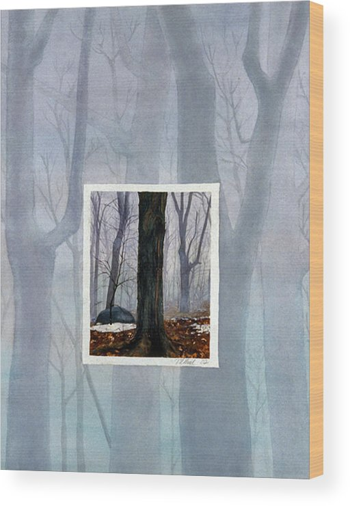 Winter Wood Print featuring the painting Winter by Nancy Ethiel