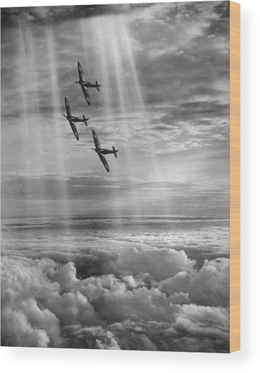 Tranquility Wood Print featuring the photograph Supermarine Spitfire by Fox Photos
