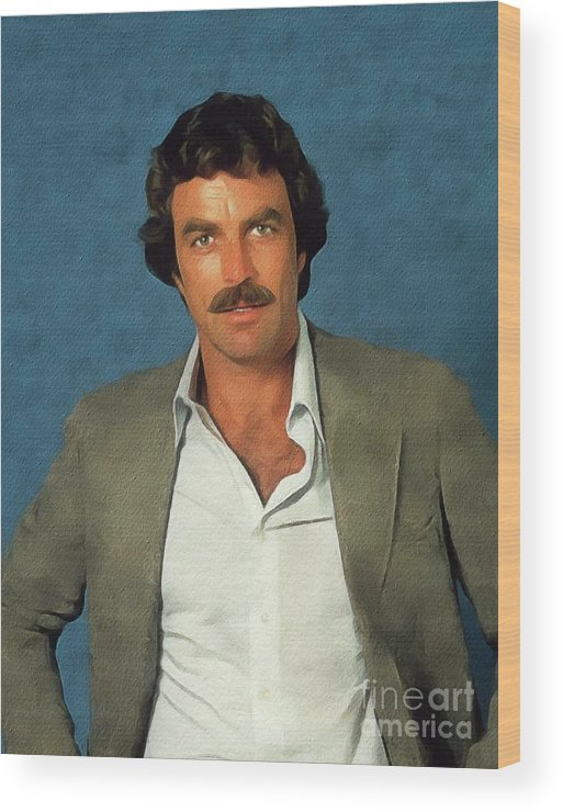 Tom Wood Print featuring the painting Tom Selleck, Actor by John Springfield