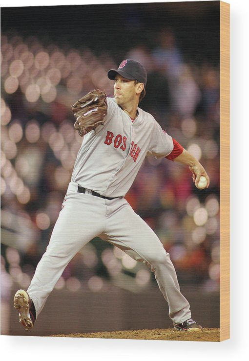 American League Baseball Wood Print featuring the photograph Craig Breslow by Andy King