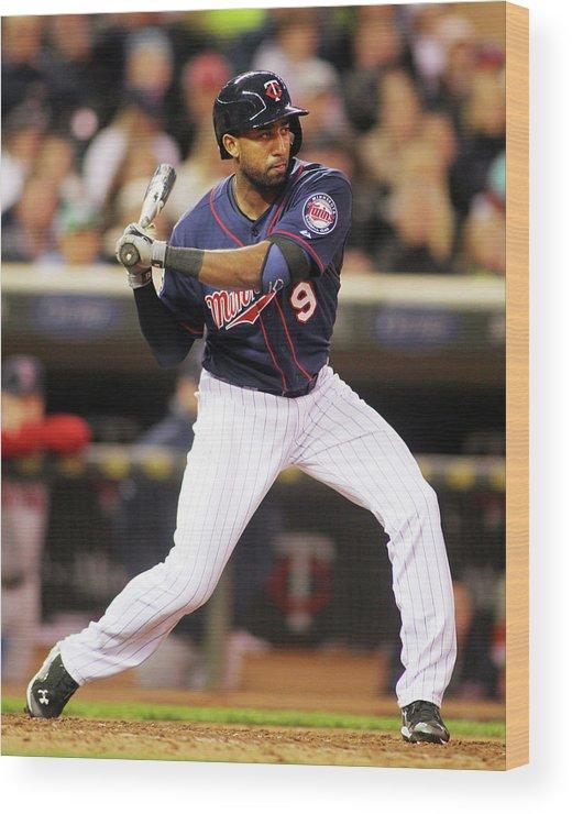 American League Baseball Wood Print featuring the photograph Eduardo Nunez by Andy King